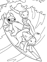 Lilo And Stitch Surfing Coloring Page Would You Like To Offer The Most Beautiful Your Friend