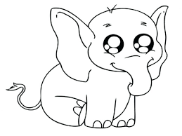 Coloring Pages Elephant Colouring For Preschoolers Baby Free Printable Elmer The Page