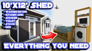 100 Shed Interior Design Converting A Tuff Into A Tiny House 3D YouTube