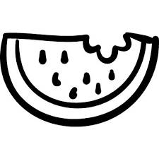 Watermelon outlined slice logo