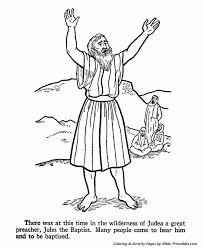 Best Ideas Of John The Baptist Coloring Pages On Job Summary
