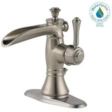 Delta Faucets Cassidy Line by Delta Cassidy Single Hole Single Handle Open Channel Spout