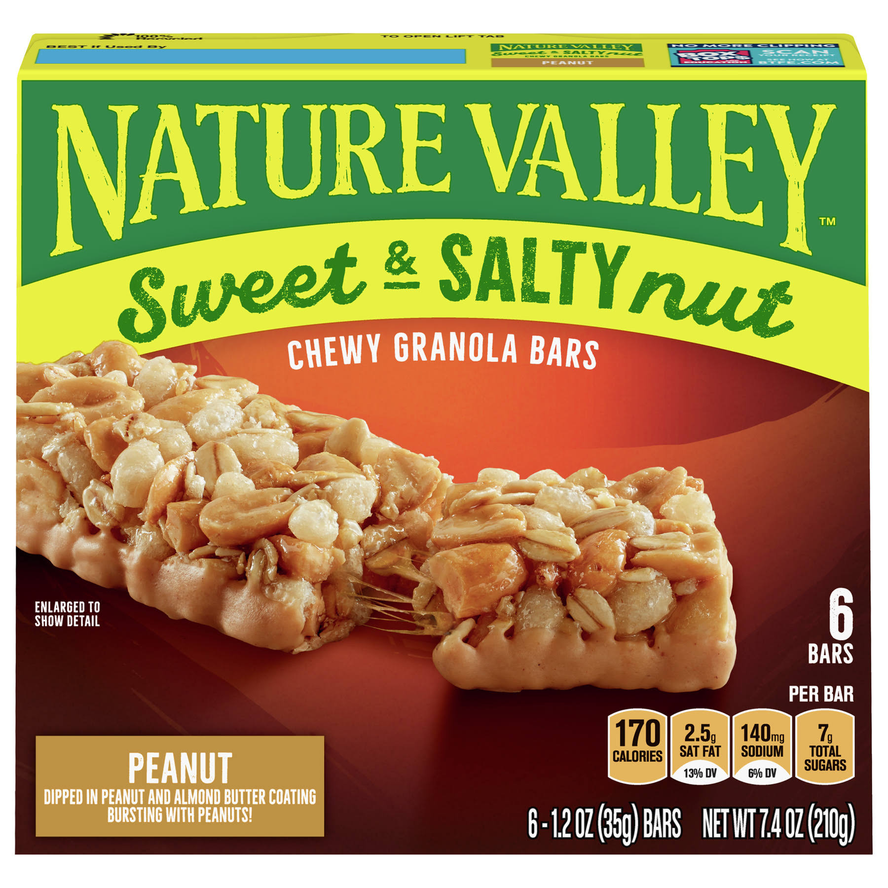 Nature Valley Sweet and Salty Nut Peanut Granola Bar - 1.2oz, 6pk