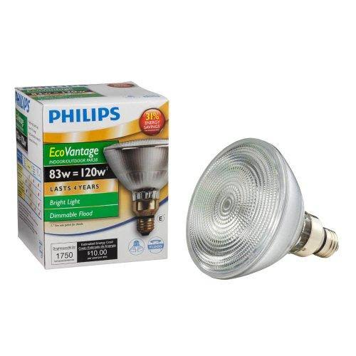 Philips PAR38 Halogen Medium Skirted Base Dimmable Flood Light Bulb - 83W