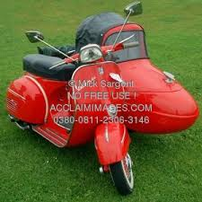 Vespa Ss Motor Scooter And Sidecar Clipart Stock Photography