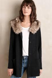 moth heathered slate sweater coat in gray lyst