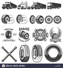 Set Of Tire Service Design Elements. Truck Illustrations, Wheels ... Semi Truck Tire Changer Whosale Suppliers Aliba And Trailer Repair Near Me How To A Nail Hole In Tire With Plug On Semi Truck Big Repair 2 Fding Leak Tighten Valve Stem Youtube Blown Tires Are Serious Highway Hazard Roadtrek Blog Tools And Trucks Busescommercial Sealant Medic Commercial Maintenance Kit For Medium Heavy Duty 30 Cords Aw Direct
