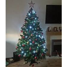 Artificial Christmas Trees Uk 6ft by 6ft Lomond Spruce Artificial Christmas Tree With 100 Free Led