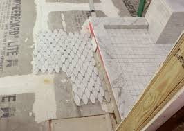 laying irregular floor tile what would you do