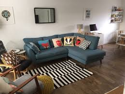 Teal Couch Living Room Ideas by Living Room French Connection Zinc Sofa Donna Wilson Cushions