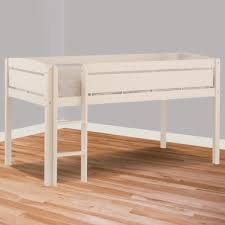 canwood whistler junior twin loft bed in white free shipping