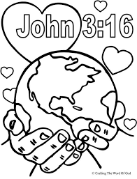 God So Loved The World Coloring Page More