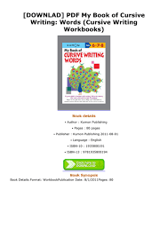DOWNLAD PDF My Book Of Cursive Writing Words Workbooks