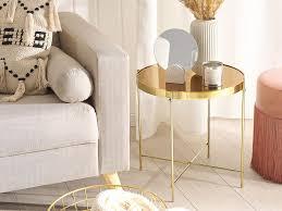 beistelltsich lucea glas gold goldbraun ch