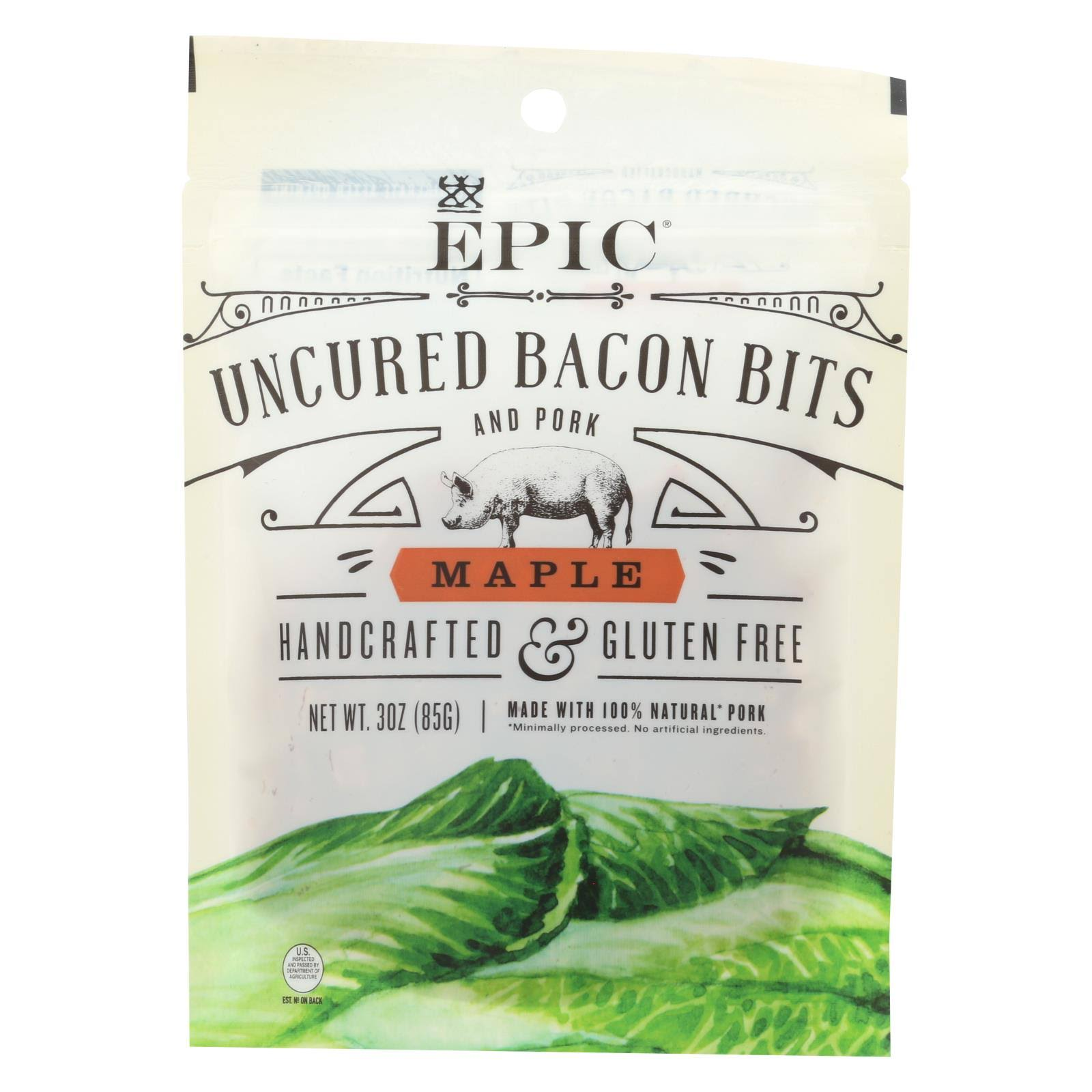 Epic, Uncured Bacon Bits Maple, 3 Ounce