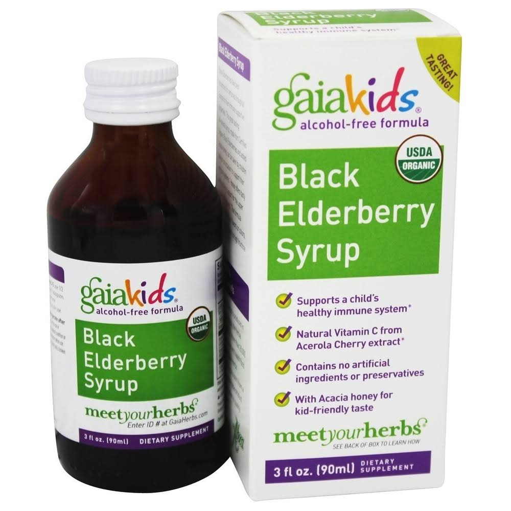 Gaia Kids Black Elderberry Syrup - 90ml