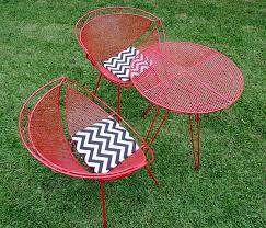 amazing of retro metal patio furniture with retro metal patio