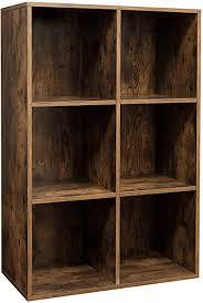 vasagle bücherregal mit 6 fächern würfelregal standregal für wohnzimmer schlafzimmer büro 65 5 x 30 x 97 5 cm vintage dunkelbraun lbc203bx