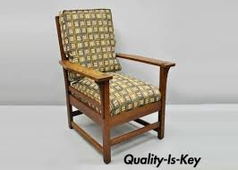 L & JG Stickley Mission Oak Arts And Crafts Lounge Arm Chair Spring Seat  Cushion Stickley Oak Mission Classics Harvey Elis Rocker With Inlay Orange Striped Upholstered Wingback Lounge Chair Fine Upholstery Cherry Frame Ottoman 70 Off Fniture Sonoma Blue Accent Arm Chairs Leopold By The Most Comfortable Chair I Ever Antiques Atlas A Recling Second Hand Glider Living Room Ellis Cube L Jg Arts And Crafts Spring Seat Cushion Large Ljg Bentarm Morris Signed Excellent Antique Style Morris In