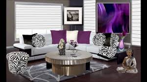 Purple And Animal Print Living Room Decor