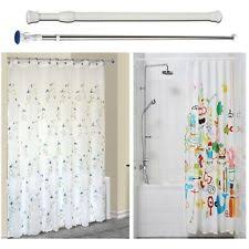 Spring Loaded Curtain Rod 300cm by Stainless Steel Shower Curtain Rails Ebay