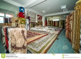 magasin de tapis tapis colorés dans le magasin image libre de droits image 36349636