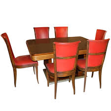 Original French Art Deco Modernist Dining Table And Chairs 1930s