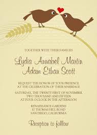 Love Bird Rustic Wedding Invitations