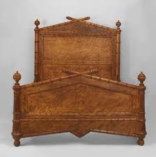 Bamboo Headboard And Footboard by Late 19th Century American Faux Bamboo Queen Size Bed For Sale At