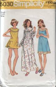Simplicity 5030 Vintage 70s Womens Baby Doll Night Dress And Bloomers Pattern Size Small