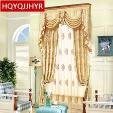 2019 neue luxus gesponnenes gold jacquard blackout vorhänge für wohnzimmer sheer vorhänge für küche fenster vorhang schlafzimmer