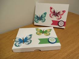 Watercolor Wings Card Gift Box Handmade Papercraft With Stampin Up Products Watercolour