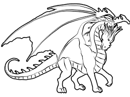Dazzling Printable Coloring Pages Of Dragons Dragon
