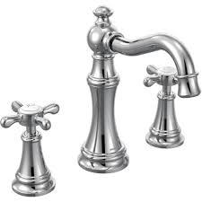 Delta Silverton Widespread Faucet by Moen Bathroom Faucet Finishes