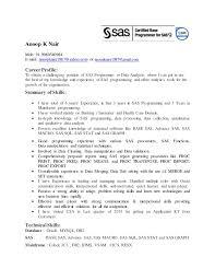 Resume SAS Programmer 3 Years Exp