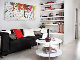 Interior Cute Decorating Ideas White Small Apartment Living Room Throughout Ways To Decorate Your