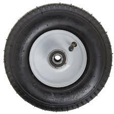 HUBERT® Black Rubber Semi-Pneumatic Replacement Wheel - 8