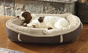 orvis memory foam wraparound dog bed with faux fur large dogs 60