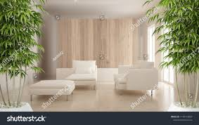 100 Modern Zen Living Room Interior Potted Bamboo Plant Natural 1140113609