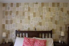 Use Ruined Books Or Old Newspaper To Cover Your Walls In Words