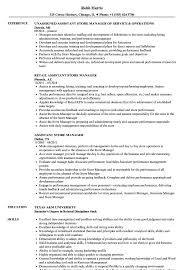 Download Assistant Store Manager Resume Sample As Image File