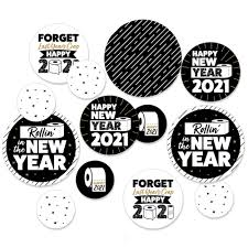 Items Where Year Is 2021 Rollin In The New Year 2021 New Year S Circle Confetti Decorations Large Confetti 27 Count