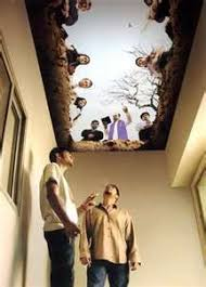 ceiling graphics can make just as much of an impact as any other