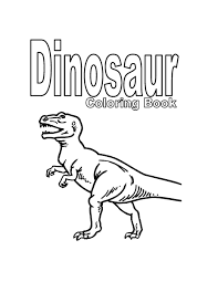 Dinosaur Coloring Book 6 Pages