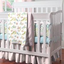 Sumersault Crib Bedding by Bedroom Design White Dots Crib Bumper Design Soft Color Baby Crib