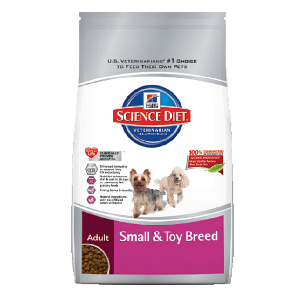 Hill's Science Diet Small & Toy Breed Chicken Meal & Rice Recipe Premium Dog Food Adult 1-6