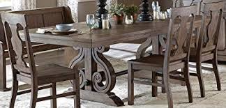 Toulon Rectangular Trestle Dining Table In Oak