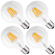 8w dimmable g25 led filament globe light bulb 75w equivalent