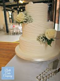 Rustic Wedding Cake With Off Horizontal Lines By Bath Company Set Up At Paintworks