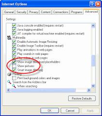 Advanced Tab Of Internet Options Window Close Explorer